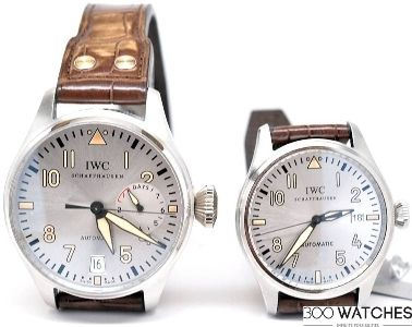 IWC Father & Son (IW500413 & IW325512) Platinum Stainless Steel Watch Set