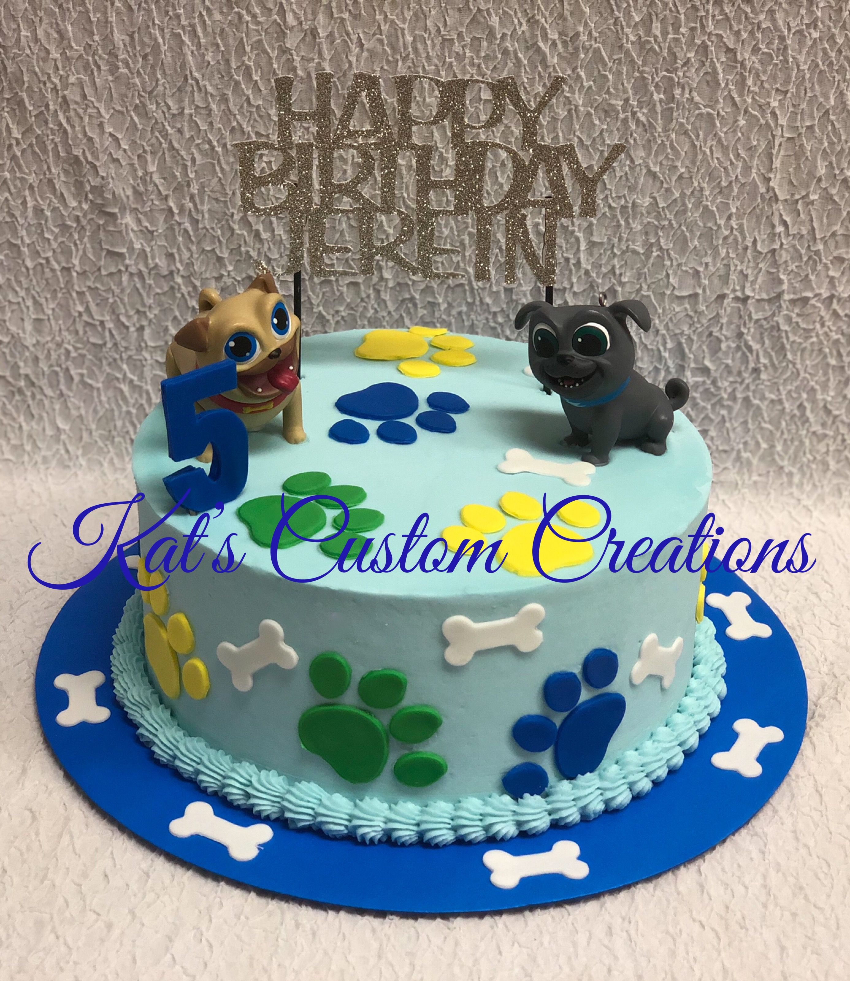 Puppy Dog Pals Cake With Images Puppy Birthday Parties Puppy