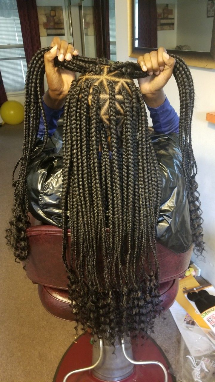 goddess braids. box triangle