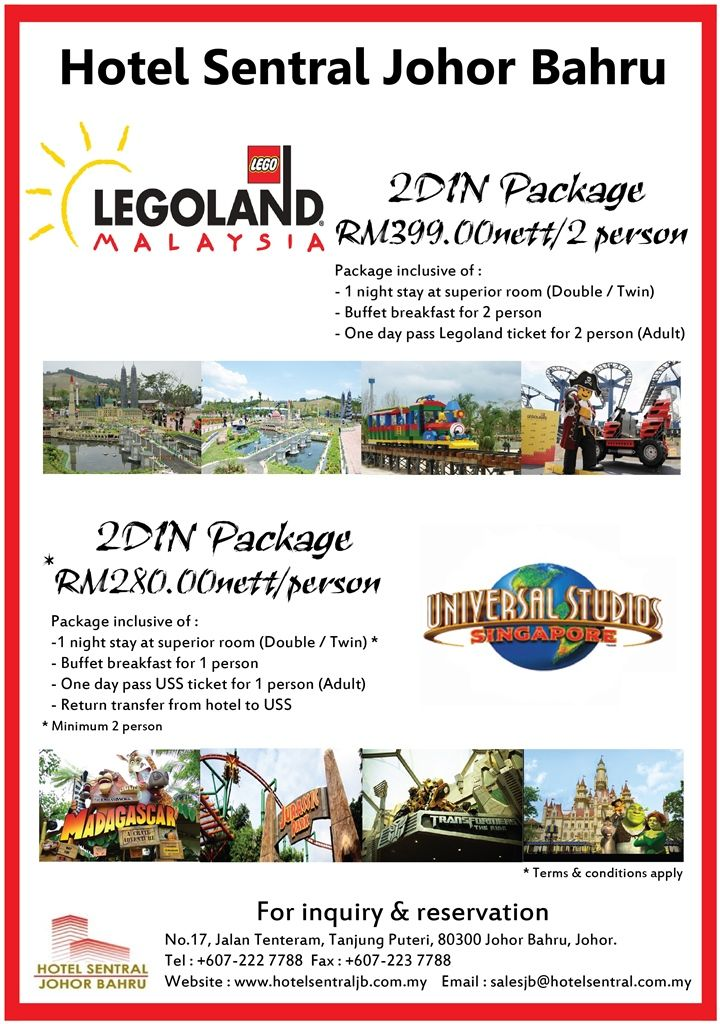 Validity Immediate Until 31st December 2013 2d1n Legoland Malaysia
