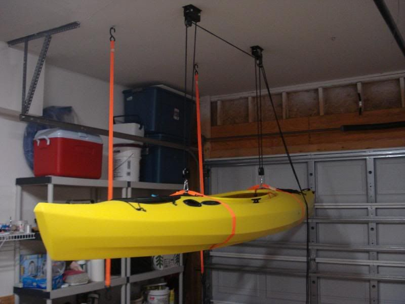 Kayak On Ceiling Kayak Storage Rack Kayak Storage Kayaking