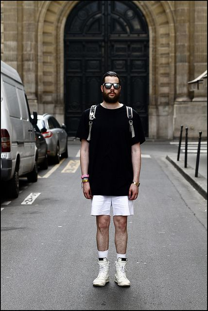 ef5e1a7991 Tuukka13 - WDYWT - Paris Mens Fashion Week - Rick Owens High-Top Sneakers