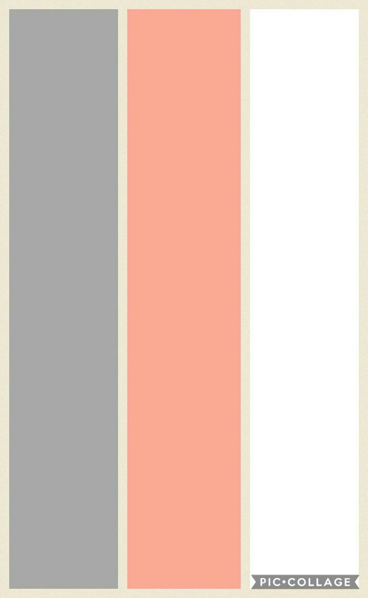 Bedroom color: Grey, Peach and White | bedroom | Peach bedroom ...