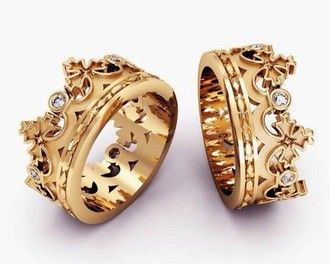 King and queen ring   Etsy