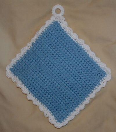 EASY CROCHET POTHOLDER PATTERN | Crochet basics, Potholder ...