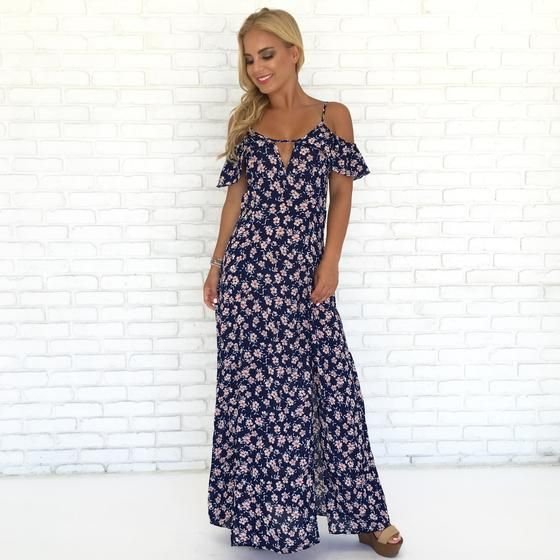 1794564bfb Dainty Daisy Floral Maxi Dress in Navy Blue | What's New? | Floral ...