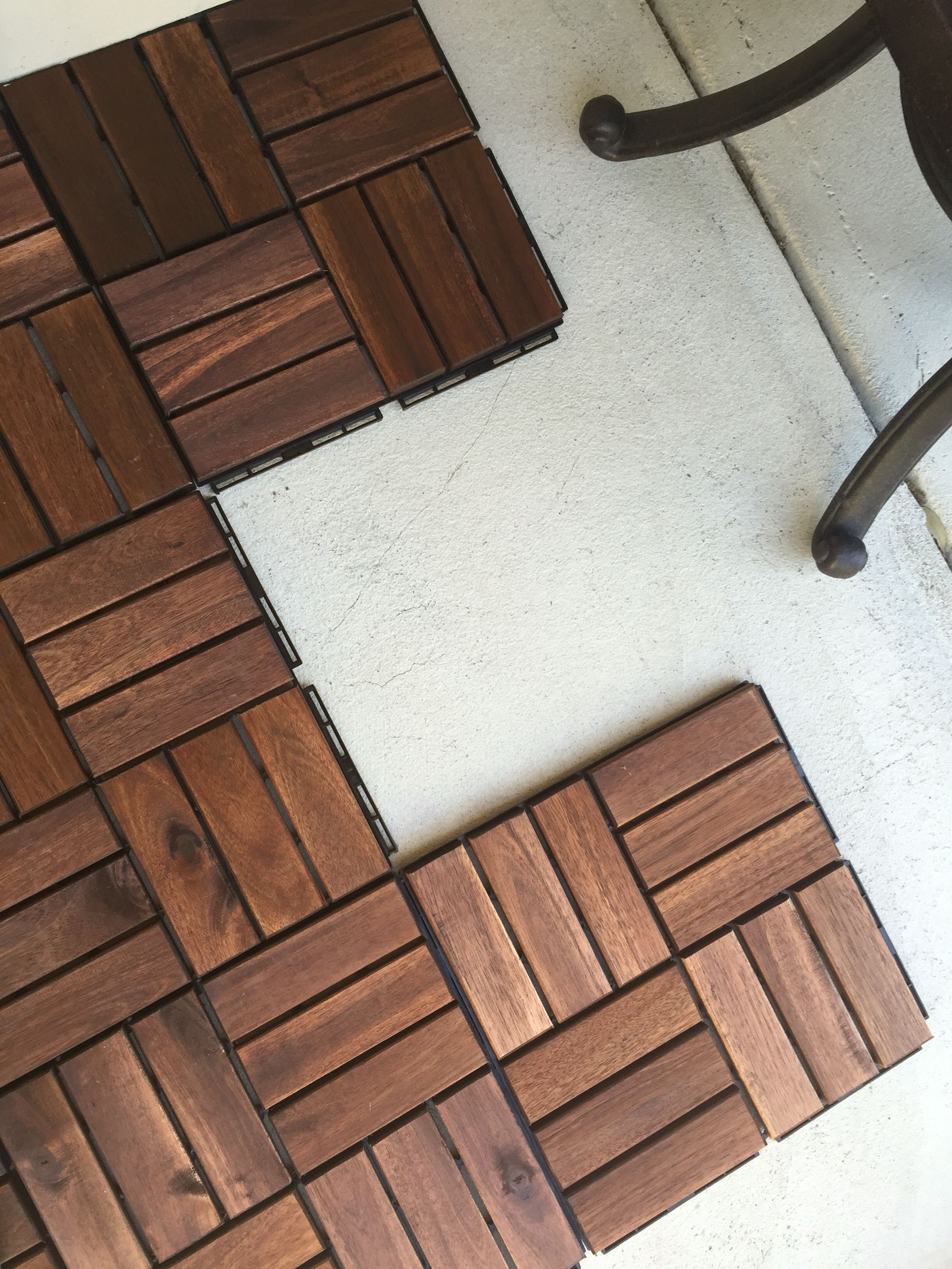Gentil The IKEA Runnen Decking Tiles Snap Together And Were Pretty Easy To Install.