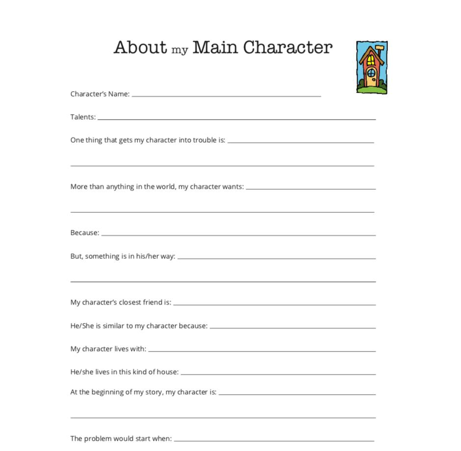 Printable Writing Worksheet Character Interview Activity Writing Worksheets Creative Writing Worksheets Personal Development Worksheet [ 920 x 940 Pixel ]
