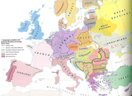 Ethnic map of Europe in 1914.More ethnic maps >> | The Power Of Maps ...