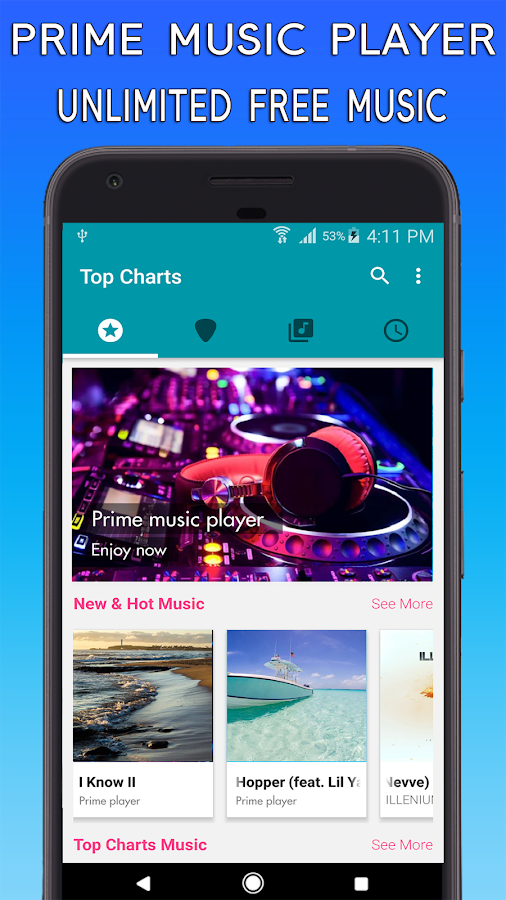 Prime Music Player Free Music Android Apps on Google Play