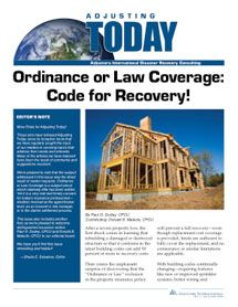 Ordinance Or Law Coverage Code For Recovery Coverage