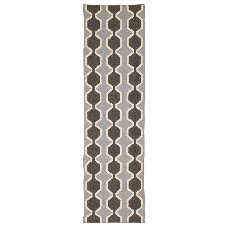 DwellStudio Chelsea Stripe Major Brown Wool Rug