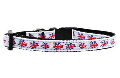 Mirage Pet Products Pet Dog Graffiti Union Jack(UK Flag) Nylon Ribbon Collar Small