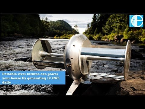 Portable river turbine can power your house by generating 12 kWh daily - YouTube