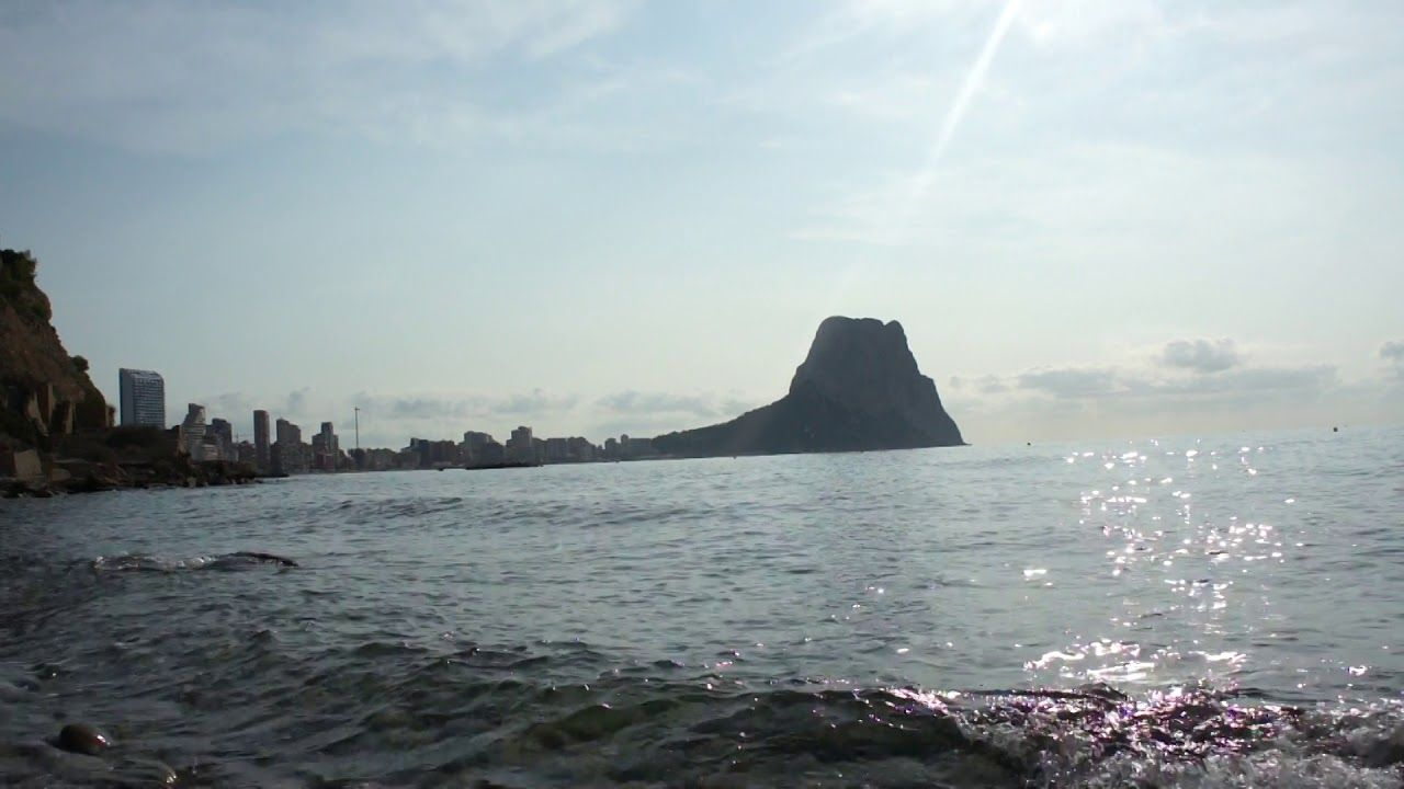 Дикий пляж в Испании (Кальпе). Beach in Spain (Calpe)