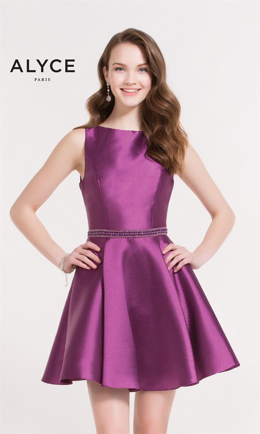 Purple Short Homecoming Dresses