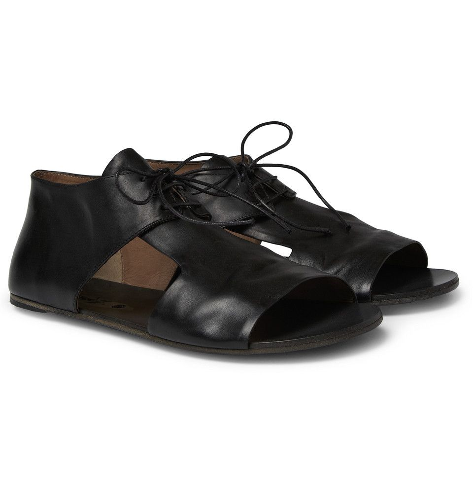 Black Cutout Oxford Sandals Marsèll 9mUIIXSl