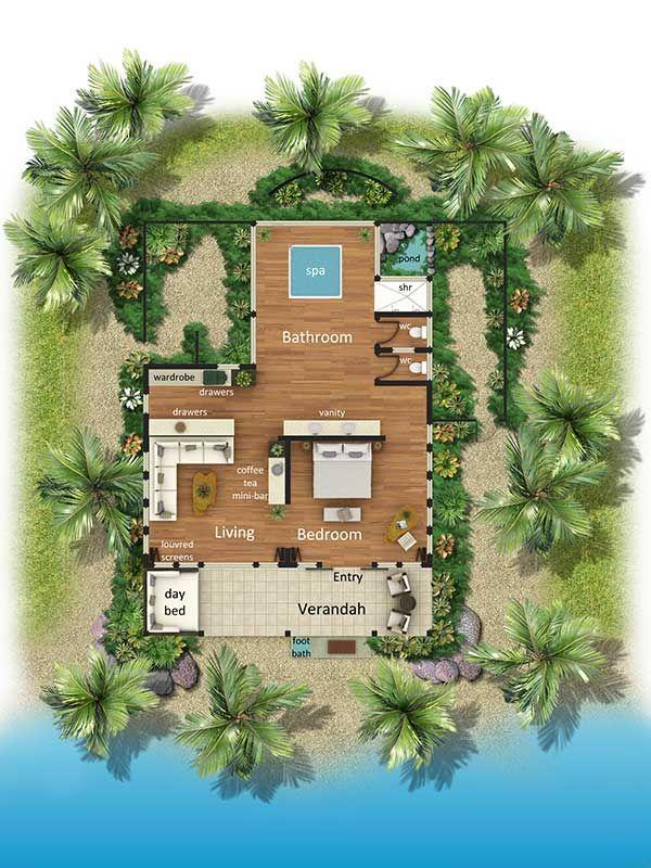 Bures And Villas Turtlefiji Com Cottage Design Resort Design Tropical House Design