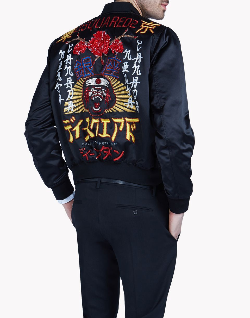 a basso prezzo ed9fe b10f7 tokyo metro flower bomber capispalla Uomo Dsquared2 | Fire ...