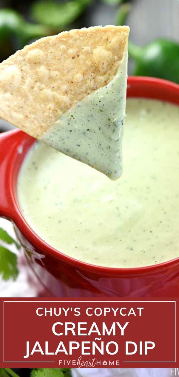 Creamy Jalapeño Dip {Chuy's Copycat Recipe}
