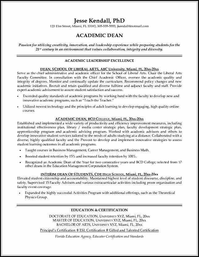 Academic Resume Sample Shows You How To Make Academic Resume Outstandingly So The Resume Will Get Noticed By The Teaching Resume Resume Examples Teacher Resume