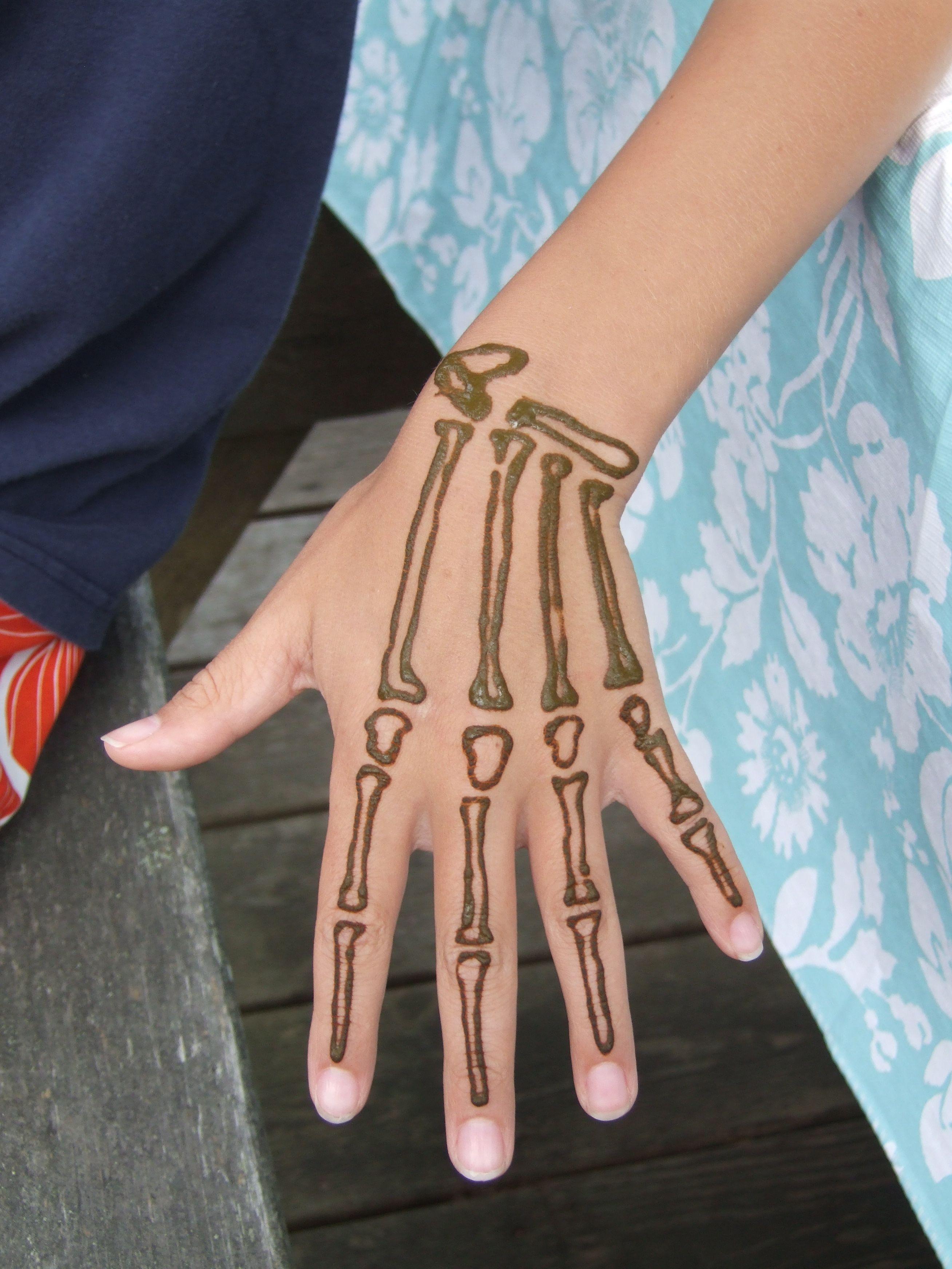 Henna tattoo designs for men - Skeleton Hand Tattoo On Hand Cool Skeleton Hand Tattoos