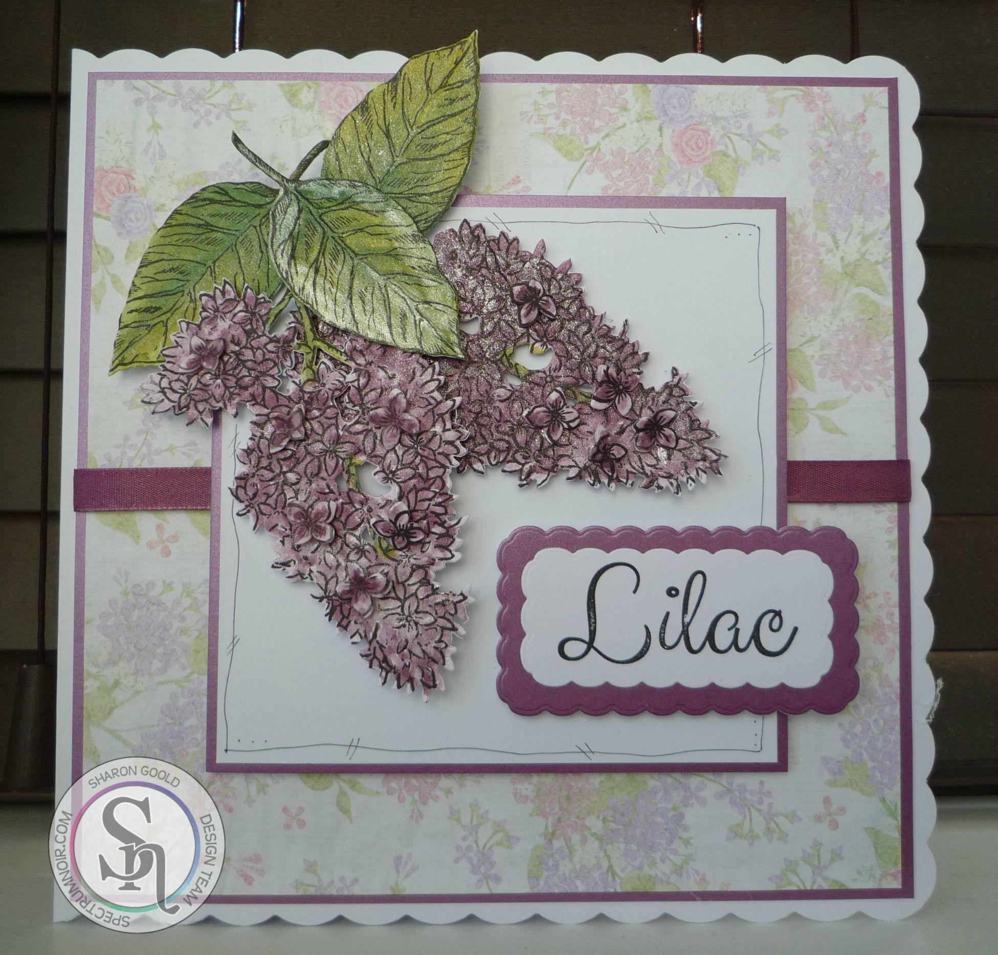 Sharon Goold - Sheena Lilac stamp - Spectrum Noir Sparkle Pens - Vintage: Peony, Sage, Sand Dune, Biscuit, Boudoir - #crafterscompanion #spectrumnoir