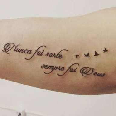 Nunca Foi Sorte Sempre Foi Deus Pesquisa Google Tatto Tattoos