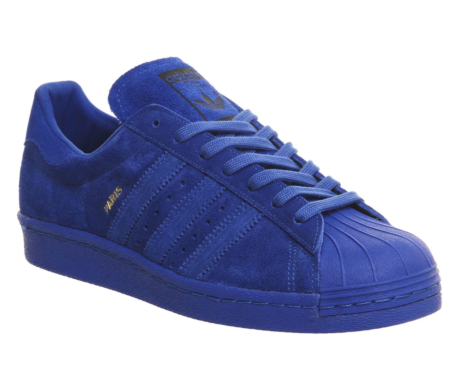 adidas superstar degli anni '80 città confezione blu parigi unisex sport freschi