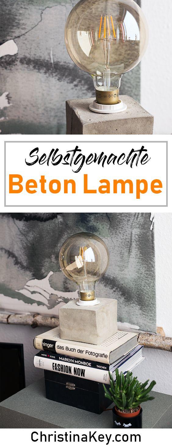 diy beton lampe crafts beton diy diy lampen und betonlampe. Black Bedroom Furniture Sets. Home Design Ideas