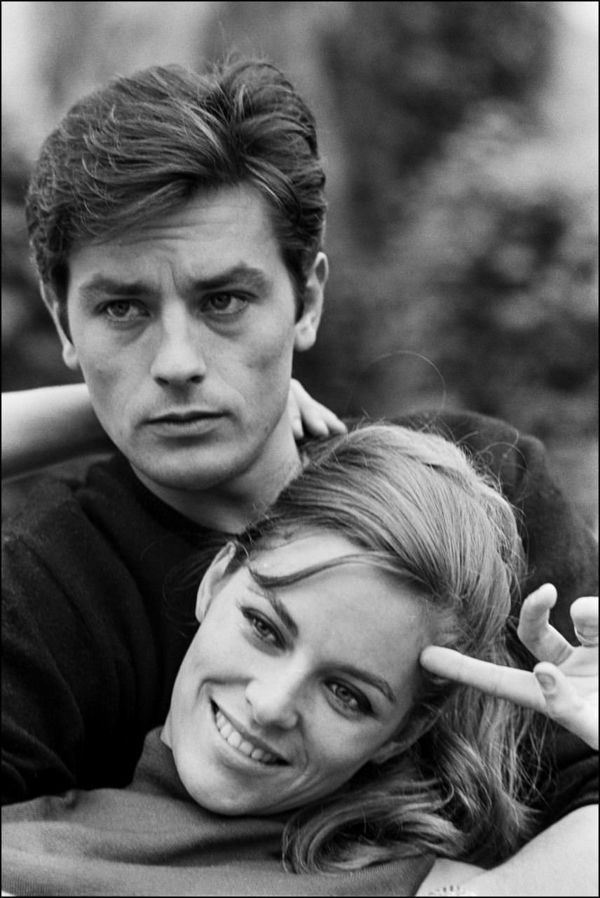 Alain Delon And His Wife Nathalie 1965 Http Ift Tt 2bqwcan