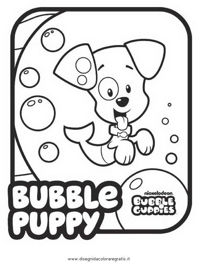 bubble guppies colouring pages page 2