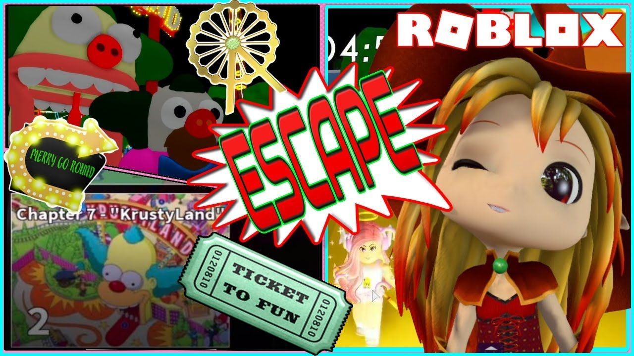 Escape From New Chapter 7 Krustyland Roblox The Piggysons In 2020 Roblox Simpsons Characters New Chapter