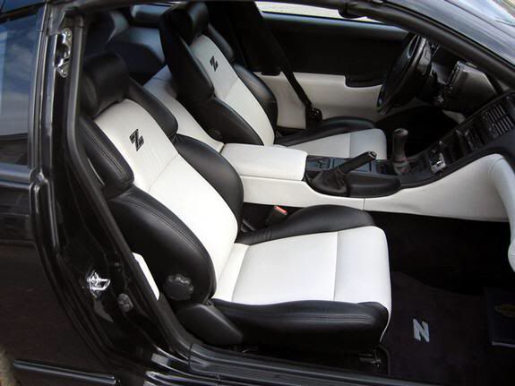 white on black custom leather interior clean nissan 300zx pinterest interiors cleanses. Black Bedroom Furniture Sets. Home Design Ideas