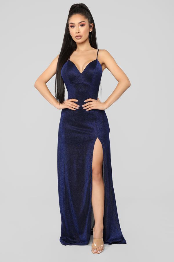 Navy Blue Dresses Fashionnova Sparkle Dress Fashion Nova Dress Sparkle Prom Dress