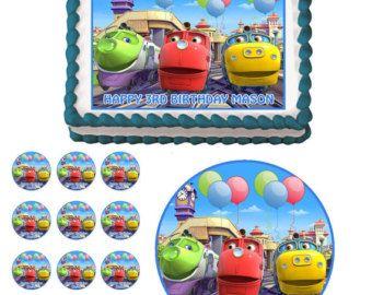 Chuggington Trains Edible Birthday Party Cake Cupcake Topper