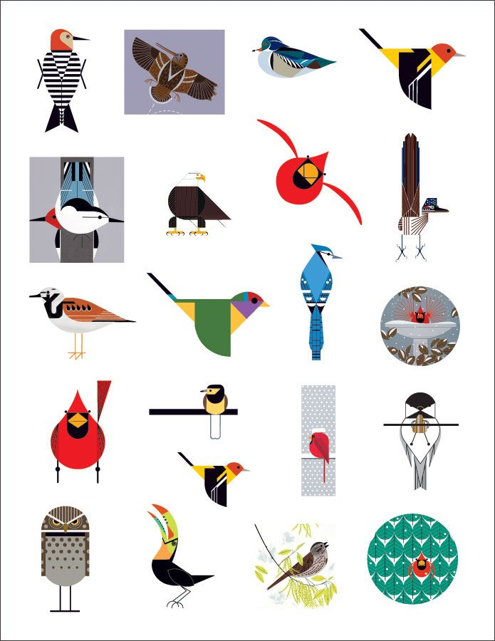 charley harpers birds sticker book - Charley Harper Coloring Book