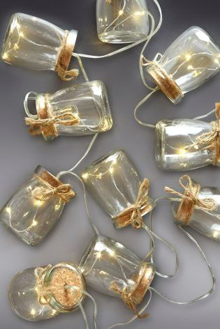 Its all in the details with fairy light jars this pretty home buy set of 10 solar glass jar line lights from the next uk online shop aloadofball Images