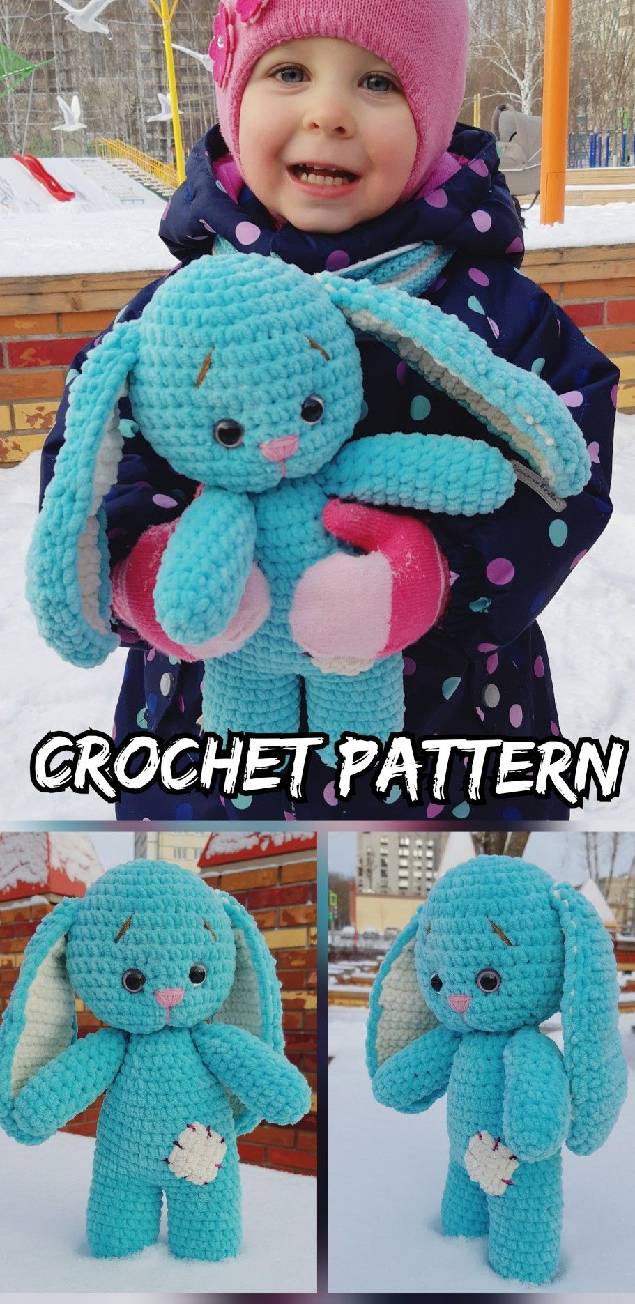 Little bunny rabbit crochet PATTERN, Crochet Easter animal pattern ... | 1871x911