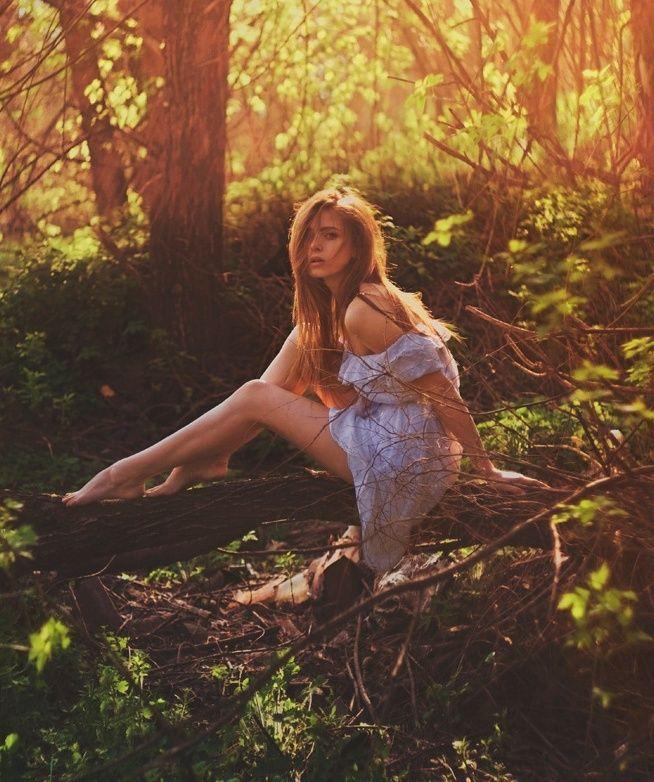 какие позы для фотосессии весной в лесу будет