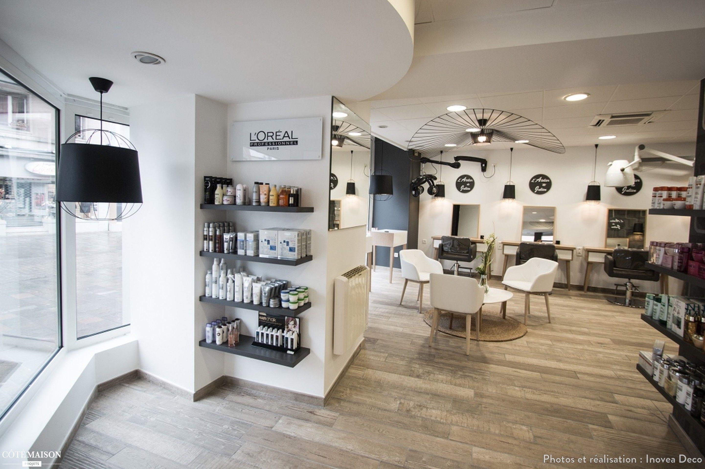"""Salon de coiffure """"lAtelier de Julien"""", Inovea Deco - Côté Maison"""