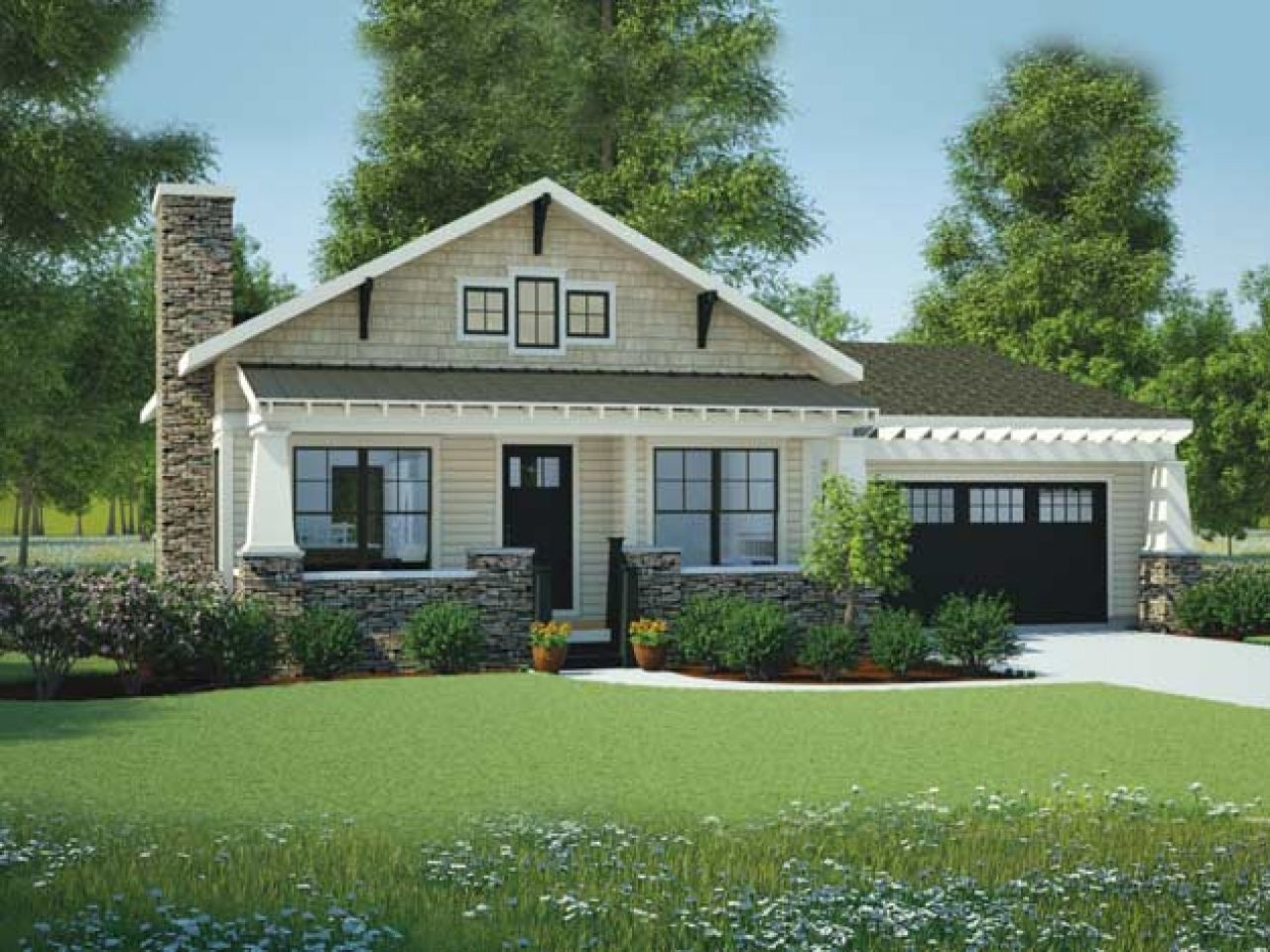 Economical small cottage house plans bungalow one story