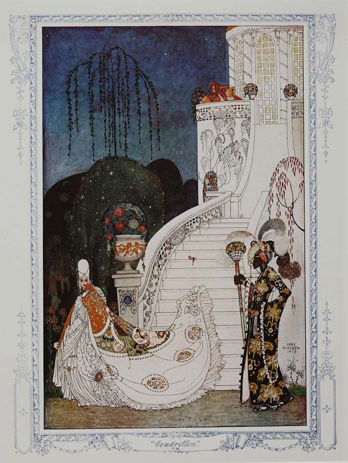'Cinderella' by Kay Nielsen for The Illustrated London News, Christmas Edition 1913.