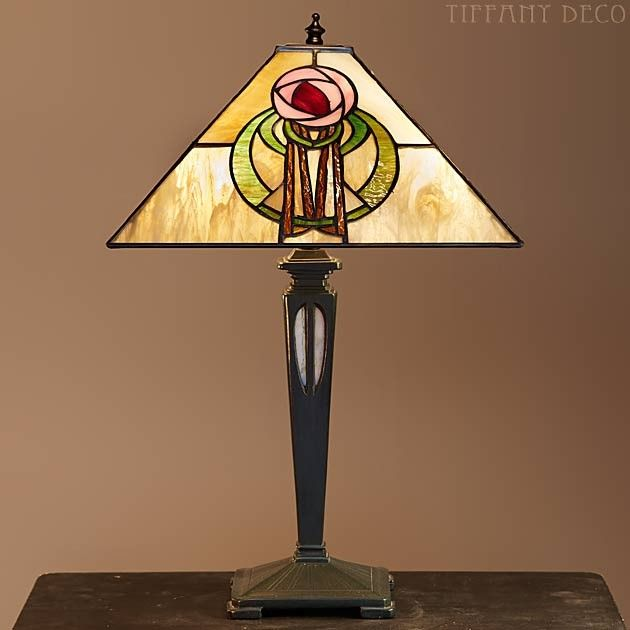 1980 S Stained Glass Lamp : Lampe tiffany mackintosh medium stained glass lamps