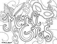 mardi gras coloring pages - Mardi Gras Coloring Pages Free Printable