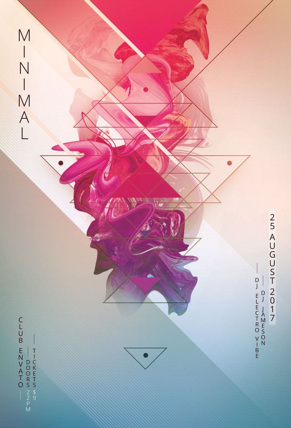 Minimal Flyer Template Creative Poster Design Creative Posters Event Poster Design