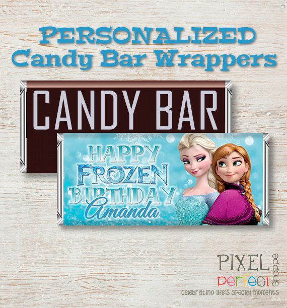 Frozen PERSONALIZED Candy Bar Wrapper Frozen Birthday Invitations