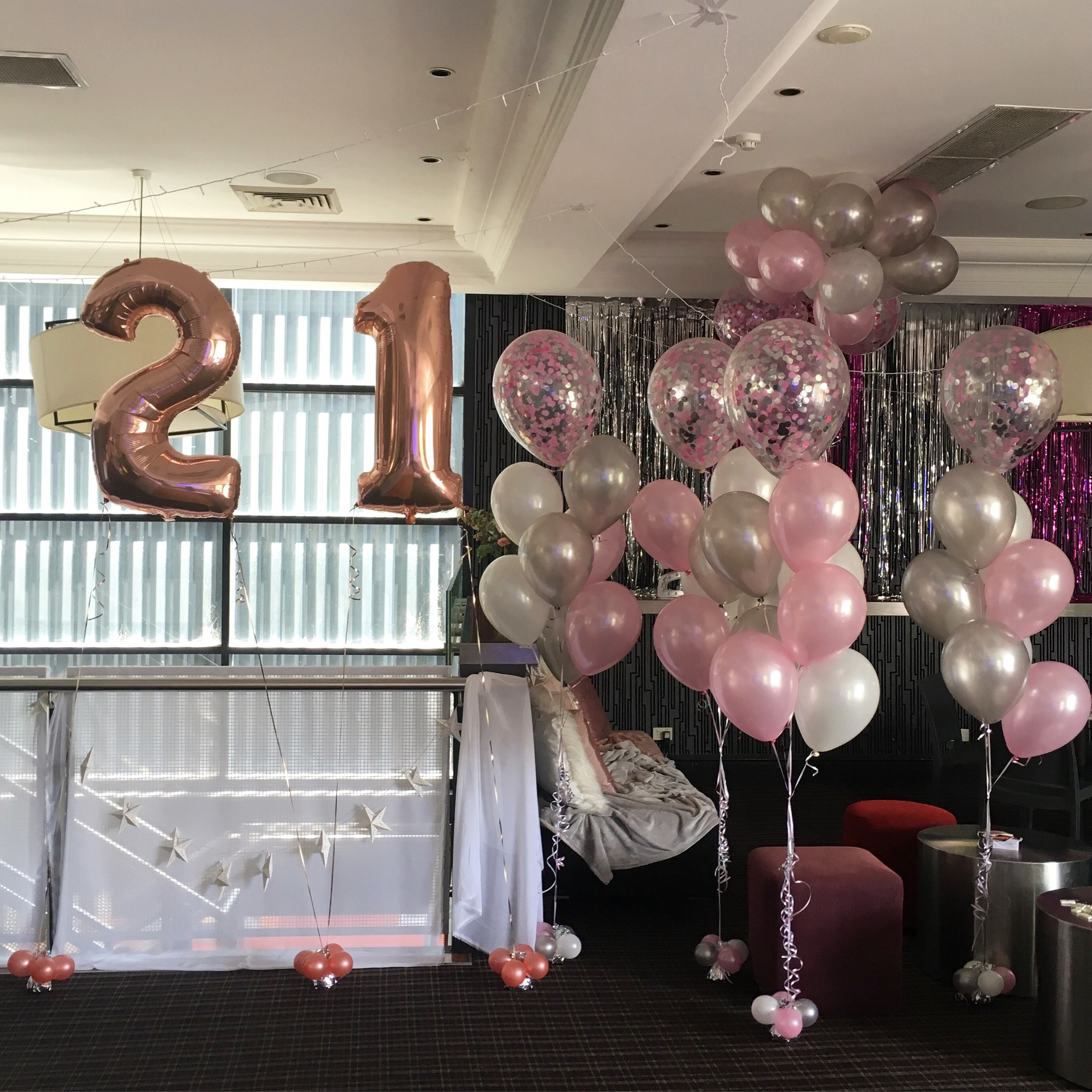 Girls 21st White Party Decorations 21st Decorations Rose Gold