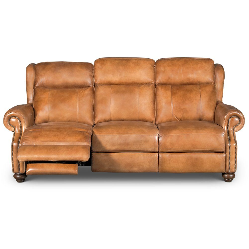 e721777ef8a Whiskey Brown Leather Power Reclining Living Room Set - Hancock in ...