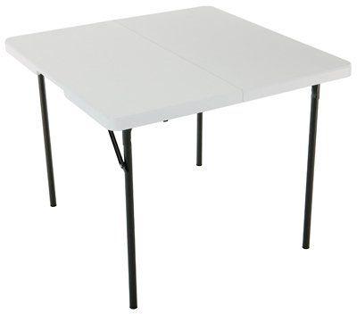 37x37 Wht Sq Fold Table Lifetime Products Http Www Amazon Com Dp B0023uwf9e Ref Cm Sw R Pi Dp Sxxixb03jfh8n Folding Table Fold In Half Table Lifetime Tables